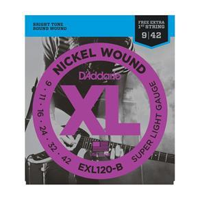 Encordoamento Guitarra D'Addario 0,9 EXL 120