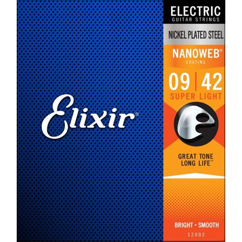 Encordoamento Guitarra Elixir 009 Super Light