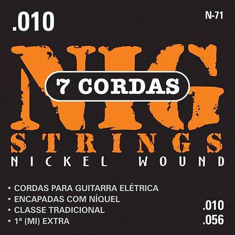 Tudo sobre 'Encordoamento Guitarra Nig N71 010/056 7cordas'
