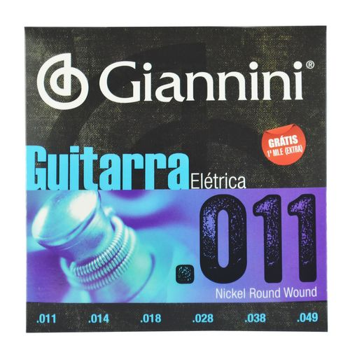Encordoamento Inox Guitarra Elétrica .011-.049 - Giannini