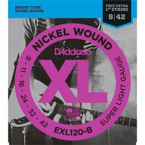 Encordoamento para Guitarra 0.09 EXL120B D'ADDARIO