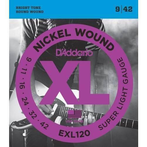 Encordoamento para Guitarra Daddario Exl120-B (.009)