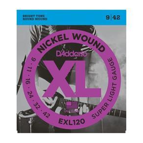 Encordoamento para Guitarra EXL120-B 0.09-0.042 Jogo de Cordas D`Addario