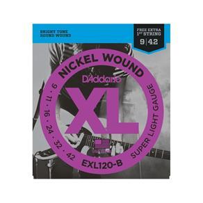 Encordoamento para Guitarra EXL120-B .009-.042 D'addario