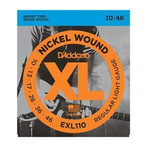 Encordoamento para Guitarra EXL110-B 0.010-0.046 Jogo de Cordas D`Addario