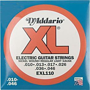 Encordoamento para Guitarra EXL110B 0.10 D`addario