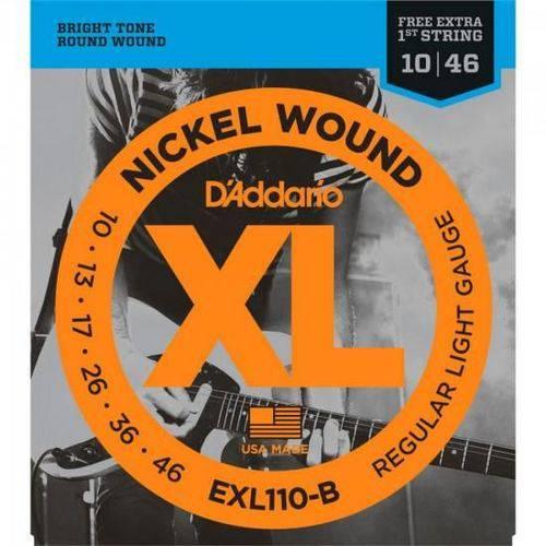 Encordoamento para Guitarra Exl110b 0.10 D'addario