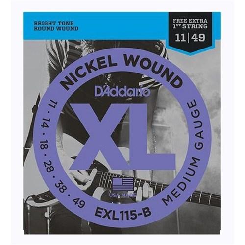 Encordoamento para Guitarra Exl115b 0,11 D'addario Xl
