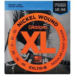 Encordoamento para Guitarra Nickel Wound Exl110 D`addario