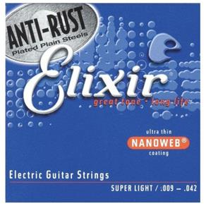 Encordoamento para Guitarra Super Light 0.09 Elixir