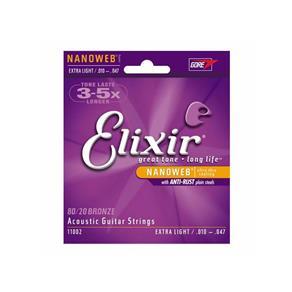 Encordoamento para Violão Elixir 010 Aço Extra Light 1002 (3210)
