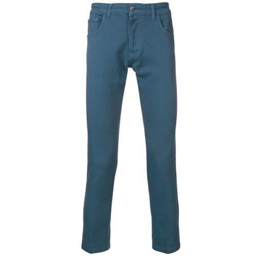 Entre Amis Calça Jeans Slim Cropped - Azul