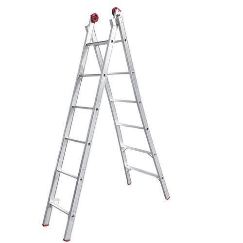 Escada de Alumínio Dupla 2x9 Extensiva Worker