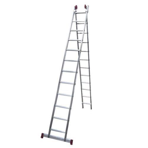 Escada de Alumínio Extensível 2 X 12 Degraus 3,53 X 6,12 M - MODELO 3 em 1 - Rotterman
