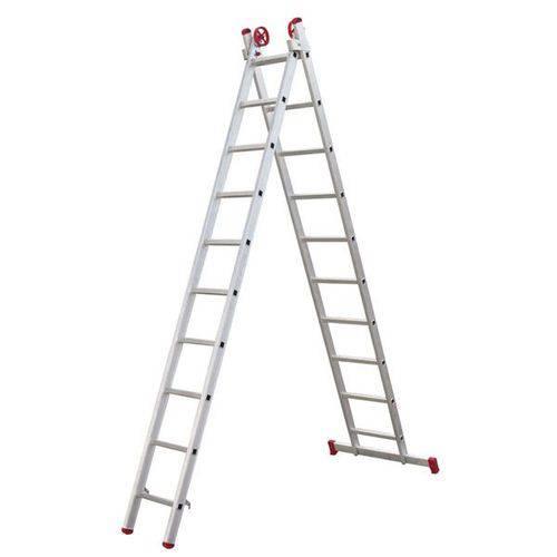 Escada 3 em 1 Extensiva Botafogo Lar&lazer Aluminio 2x10degraus