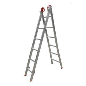 Escada 3 em 1 Extensiva Botafogo Lar&Lazer Alumínio 2x11Degraus