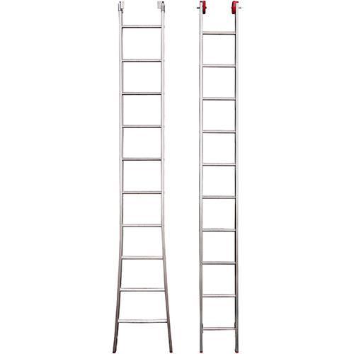 Escada 3 em 1 Extensiva Botafogo Lar&Lazer Alumínio 2x10Degraus