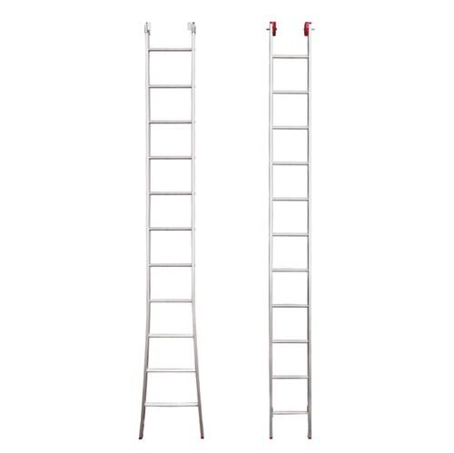 Escada Extensiva 2x11 Degraus Alumínio 3 em 1 - 6m Botafogo
