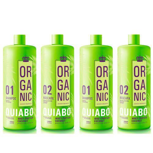 Escova Progressiva Definitiva de Quiabo Organic 4X1 Litro