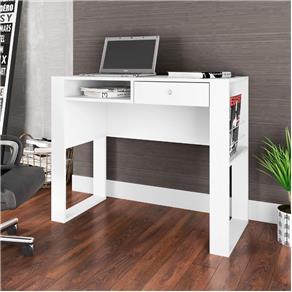 Escrivaninha 1 Gaveta e 1 Nicho Paris Art In Móveis Branco