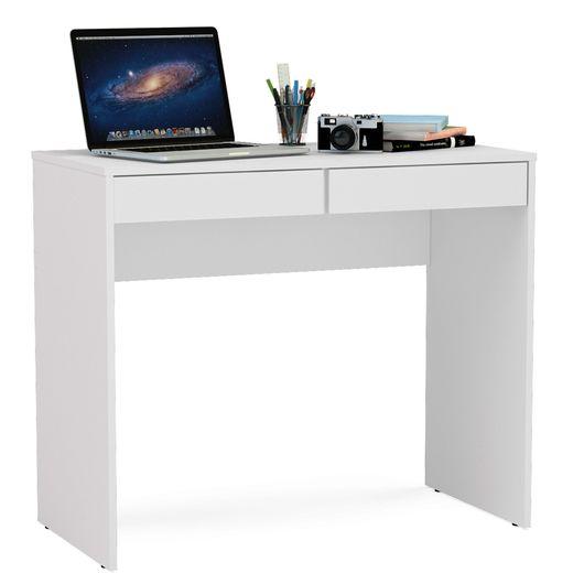 Escrivaninha com 2 Gavetas, Branco, Chape