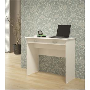 Escrivaninha com 2 Gavetas - EJ Móveis - Branco