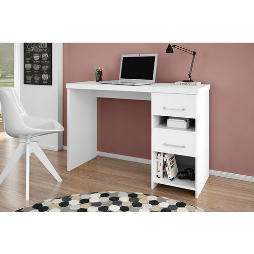 Escrivaninha Duna - Germai Móveis - Branco Acetinado