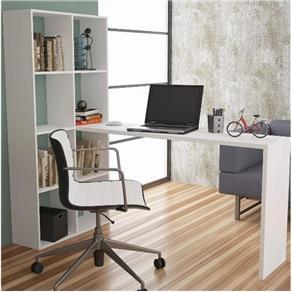 Escrivaninha Estante Brv Móveis Be 38-06 - Branco