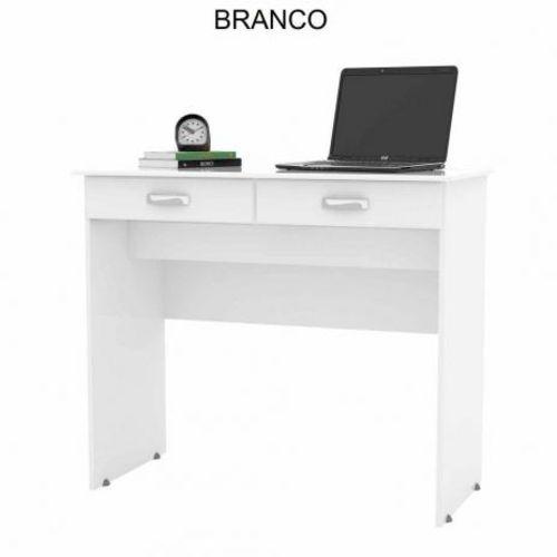Escrivaninha 2 Gavetas Branco Ej Móveis