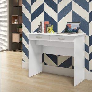 Escrivaninha 2 Gavetas EJ Móveis Branco 0 EJ Móveis
