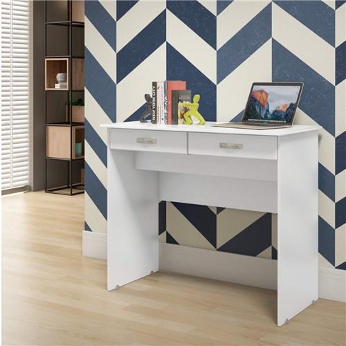 Escrivaninha 2 Gavetas Ej Móveis Branco