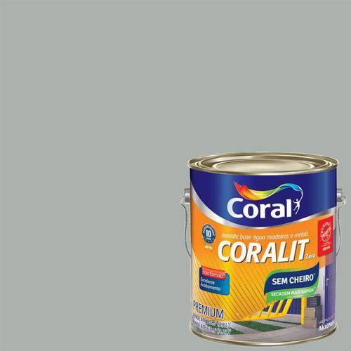 Esmalte Base Água Coralit Zero 3.6 Litros Platina Brilhante - CORAL