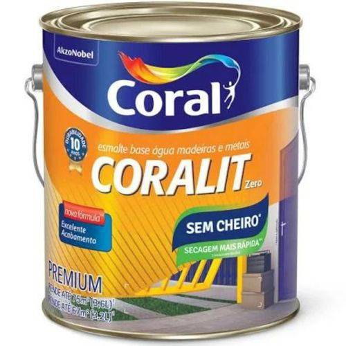 Esmalte Brilhante Branco Galão 3,6 Litros Coralit Zero