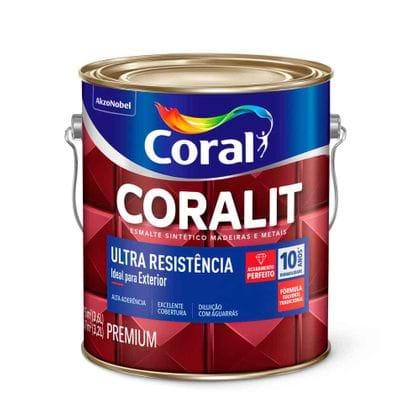 Esmalte Coralit Ultra Resistência 3,6 Litros Transparente Transparente