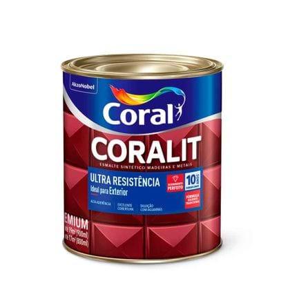Esmalte Coralit Ultra Resistência 900ml Acetinado Branco