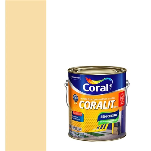 Esmalte Sintético a Base de Água Brilhante Coralit Marfim 3,6L - Coral - Coral