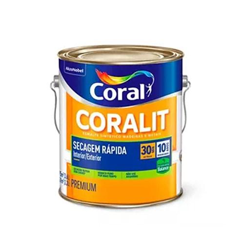 Esmalte Sintético Coralit Secagem Rápida Balance Acetinado 3,6l - Coral