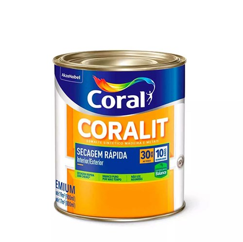 Esmalte Sintético Coralit Secagem Rápida Balance Brilho 900ml - Coral