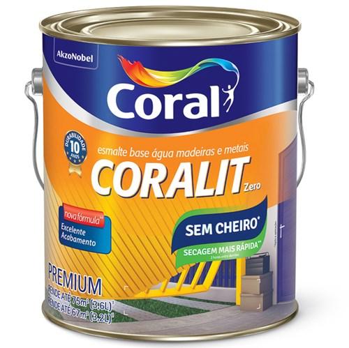 Esmalte Base Água Coralit Acetinado Branco 3,6L Coral