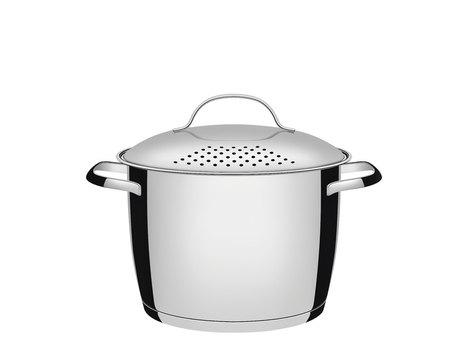 Espagueteira Aço Inox com Fundo Triplo 22Cm - Allegra - Tramontina