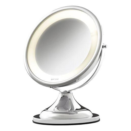 Tudo sobre 'Espelho com Luz e Aumento Modelo 10202 Cromado Brilhante'
