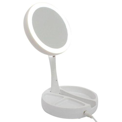 Espelho de Aumento 10x Dupla Face com Led Bm360741
