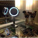 Tudo sobre 'Espelho de Mesa com Luz Led Metal Penteadeira Luxo'