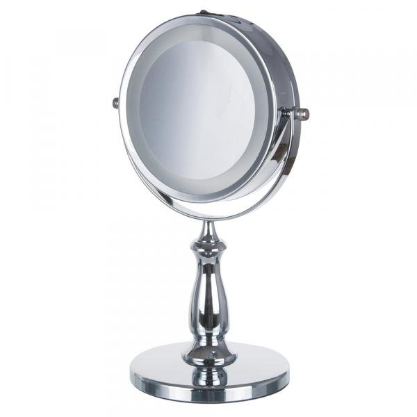 Espelho de Mesa Lemat Jm-905 Dupla Face com Luz Led