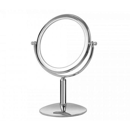 Tudo sobre 'Espelho de Mesa Platine Dupla Face Cromado Modelo 10240 Cromado Brilhante'