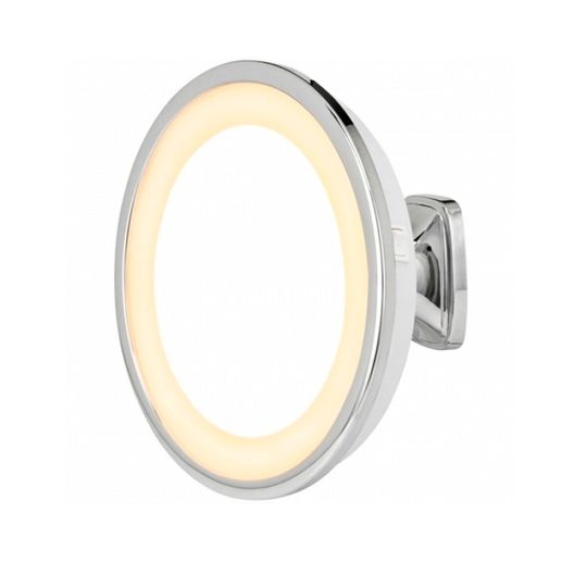 Tudo sobre 'Espelho de Parede Visage com Luz e Aumento Modelo 10509 Cromado Brilhante'