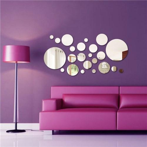 Espelho Decorativo Acrílico - Círculos Abstratos
