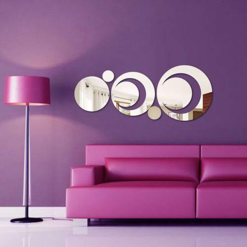 Espelho Decorativo Acrílico - Círculos Vazados