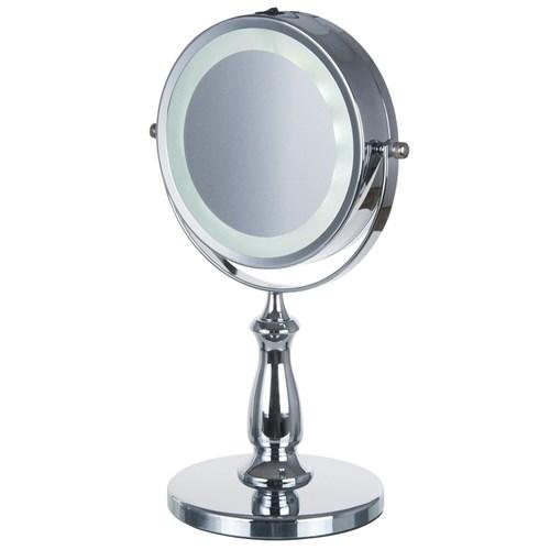Espelho Dupla Face com Luz de Led Aumento 5X Zoom