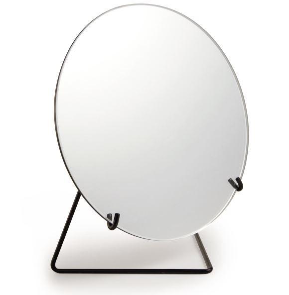 Espelho em Metal com Suporte Preto / P